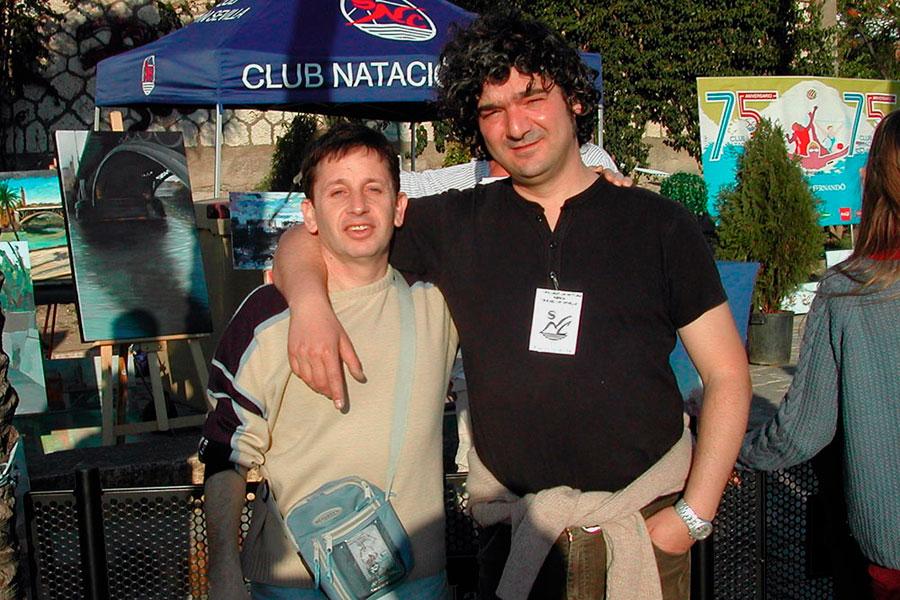 Con Manuel Plaza